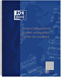 COLLEGEBLOK OXFORD MUZIEK A4+ 4-GAATS 50VEL 90GR 1 STUK