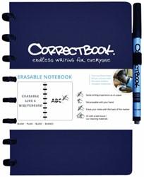 CORRECTBOOK A5 GELINIEERD BLAUW 1 STUK