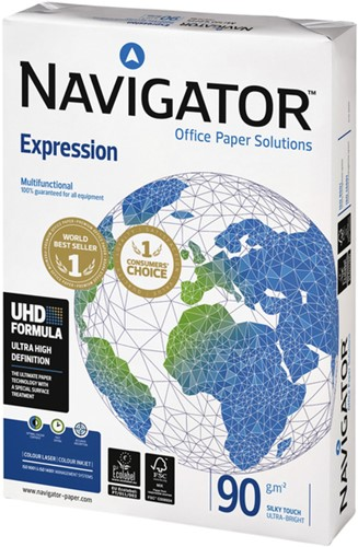 KOPIEERPAPIER NAVIGATOR EXPRESSION A4 90GR WIT 500 VEL