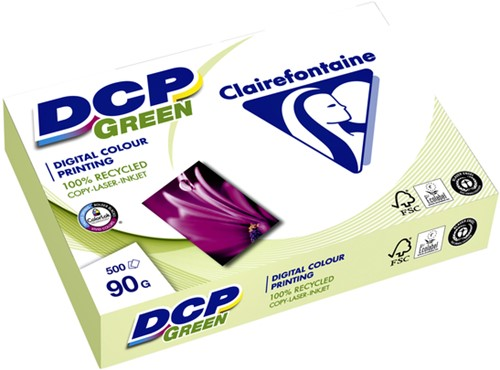 LASERPAPIER CLAIREFONTAINE DCP GREEN A4 90GR WIT 500 VEL