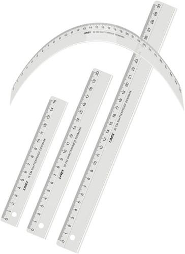LINIAAL LINEX ONBREEKBAAR 15CM 1 Stuk