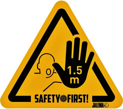 WAARSCHUWINGSSTICKER JALEMA HAND HOUD AFSTAND GL/ZW 4 STUK