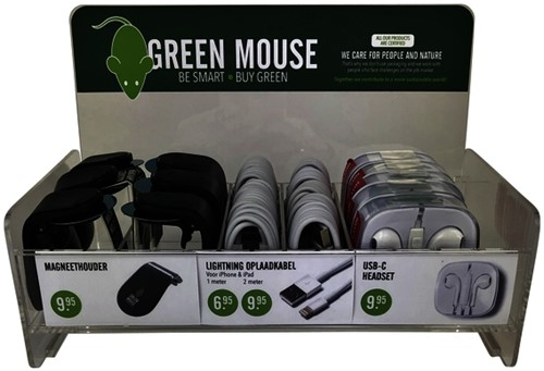 DISPLAY GREEN MOUSE EXTENSION LAYER 1 DISPLAY