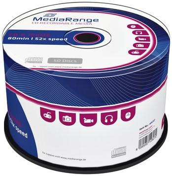 CD-R MEDIARANGE 700MB 80MIN 52X SPEED CAKE 50 50 Stuk