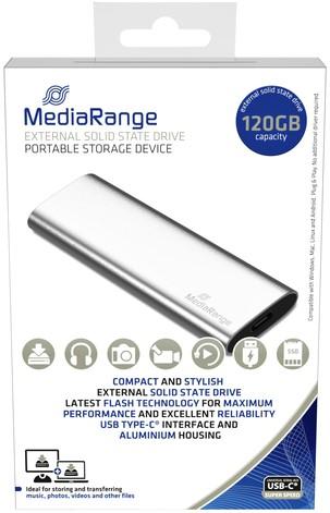 HARDDISK MEDIARANGE 3.0 SSD EXTERN 120GB 1 Stuk