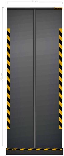 HYGIENE SCHERM JALEMA TRANSPARANT OPROLBAAR 800MM 1 STUK