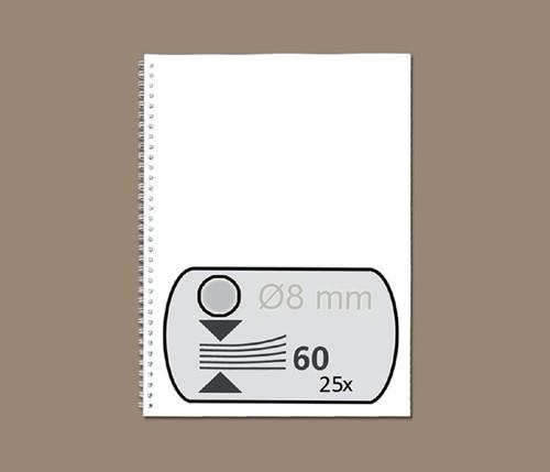 DRAADRUG GBC 8MM 34RINGS A4 ZILVER 25 STUK