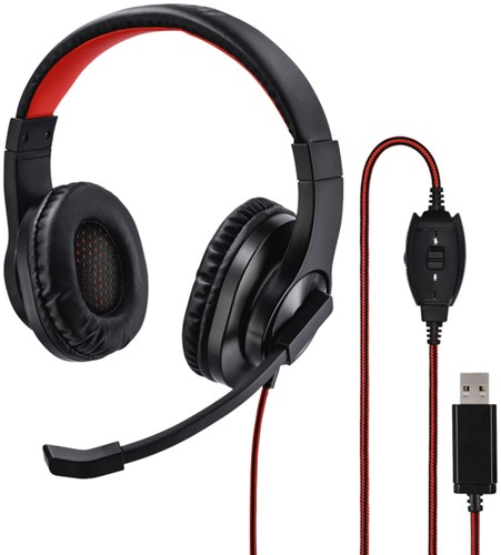 HEADSET HAMA HS-USB400 ZWART 1 Stuk