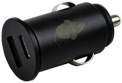 AUTOLADER GREEN MOUSE USB-A+C 2.4A ZWART 1 Stuk