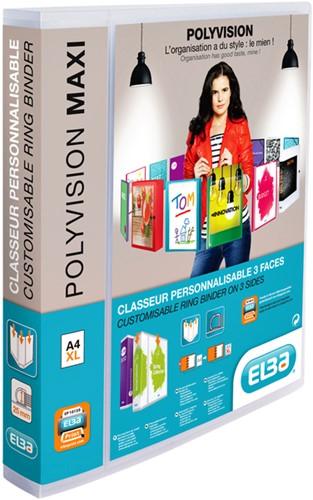 RINGBAND ELBA POLYVISION MAXI A4 XL 4R 25MM TR 1 STUK
