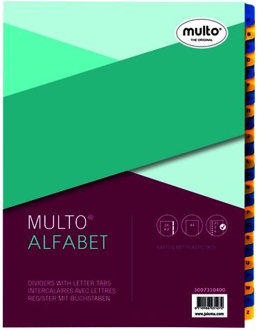 TABBLADEN MULTO 7310400 A4 23R KARTON A-Z CHAMOIS 1 STUK