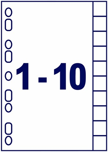 TABBLADEN AVERY INDEXMAKER A4 4R 10DLG 1 SET-2