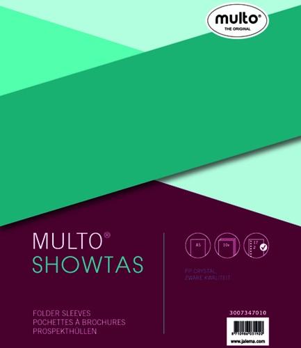 SHOWTAS MULTO A5 17R PP 0.14MM GLAD 10 STUK