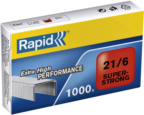 NIETEN RAPID 21/6 GEGALV SUPER STRONG 1000ST 1000 STUK