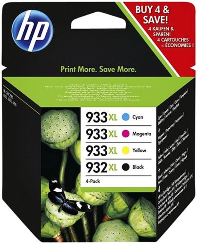 INKCARTRIDGE HP 932XL 933XL C2P42AE ZWART 3 KLEUREN 4 STUK