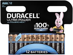 BATTERIJ DURACELL AAA ULTRA POWER ALKALINE 12-PACK 12 STUK