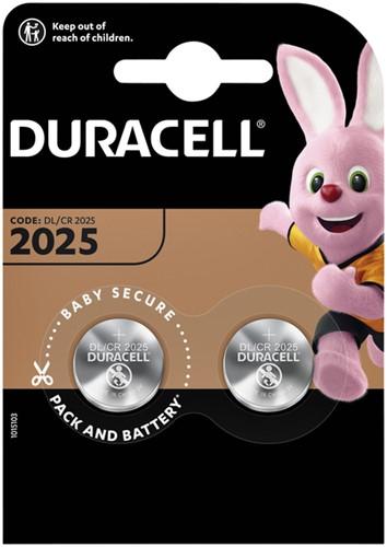 BATTERIJ DURACELL 2025 LITHIUM 2PACK 2 STUK