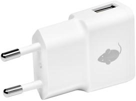 OPLADER GREENMOUSE USB-A 1X 1A WIT 1 Stuk