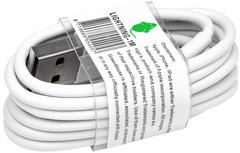 KABEL GREEN MOUSE USB LIGHTNING-A 1METER WIT 1 Stuk