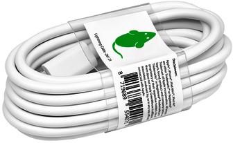 KABEL GREEN MOUSE USB LIGHTNING-A 2METER WIT 1 STUK