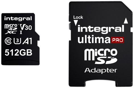 GEHEUGENKAART INTEGRAL MICRO V30 512GB 1 STUK