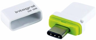 USB-STICK INTEGRAL 32GB USB C+USB 3.1 FUSION DUAL 1 Stuk