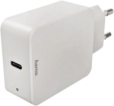 OPLADER HAMA USB-C 1x 18W WIT 1 Stuk