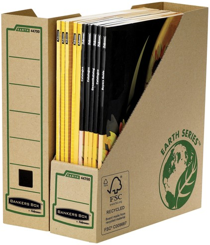 TIJDSCHRIFTCASSETTE BANKERS BOX EARTH A4 80MM 1 Stuk