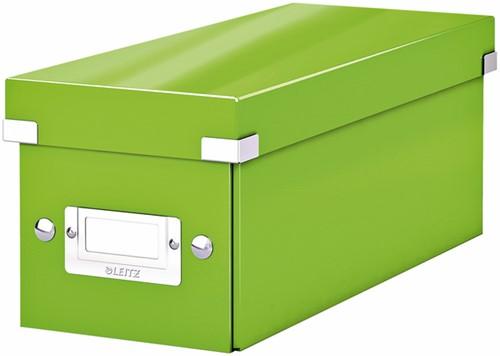 CD-BOX LEITZ WOW CLICK&STORE GROEN 1 Stuk