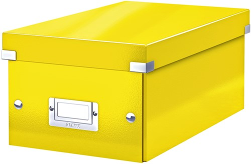 DVD-BOX LEITZ WOW CLICK&STORE GEEL 1 Stuk
