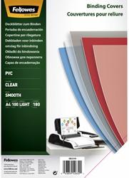 VOORBLAD FELLOWES A4 PVC 180MICRON TRANSPARANT 100 STUK