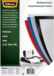 VOORBLAD FELLOWES A4 FANTASIA PP 500MICRON TRANSPARANT 50 STUK