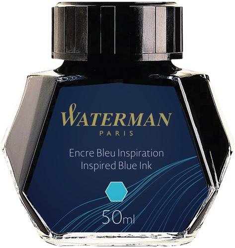 VULPENINKT WATERMAN 50ML INSPIREREND BLAUW 1 Stuk