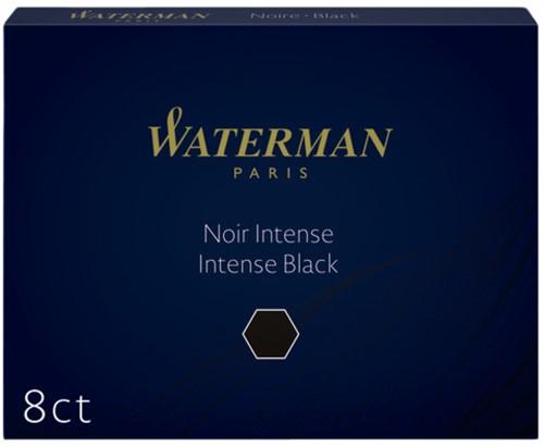 INKTPATROON WATERMAN NR23 LANG ZWART 8 Stuk
