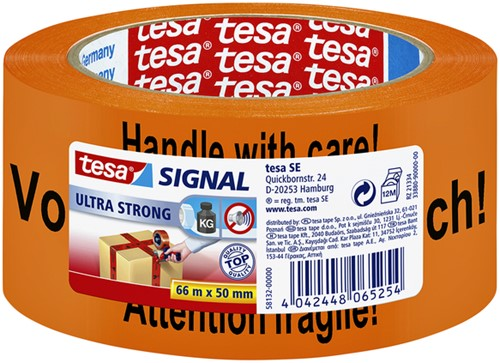 TAPE TESA SIGNAAL GB/D/F 50MMX66M ORANJE 66 METER