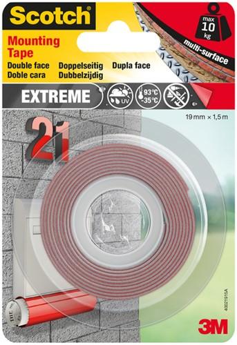 Plakband Scotch Extreme 19mmx1.5m dubbelzijdig 1 Stuk