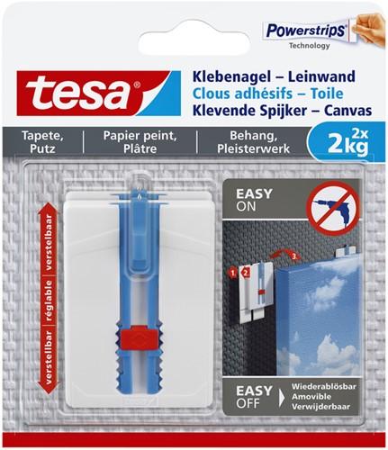 KLEVENDE SPIJKER TESA CANVAS BEHANG 2KG 2 Stuk