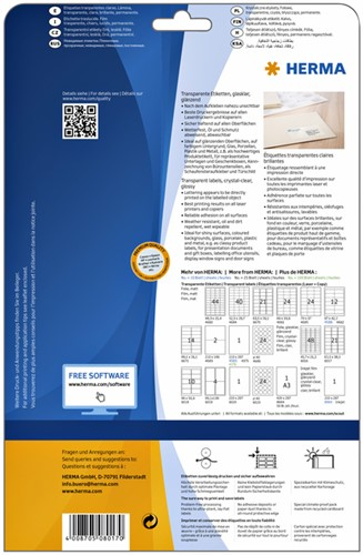 ETIKET HERMA 8017 63.5X38.1MM TRANSPARANT A4 525ST 25 VEL-3