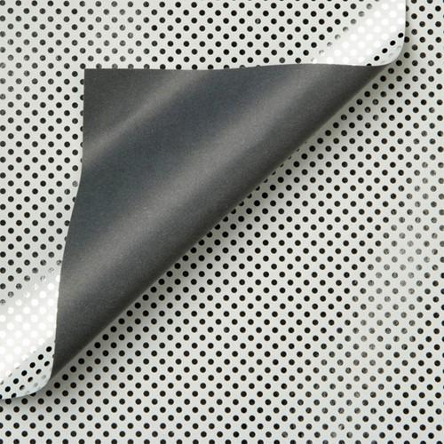 APPARAATROL DESIGN ZILVER STIPPEN GRIJS 100MX30CM 1 ROL