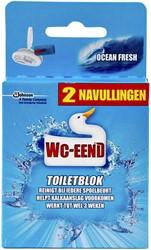 TOILETBLOK WC-EEND OCEAN BLUE NAVULLING 2ST 2 STUK