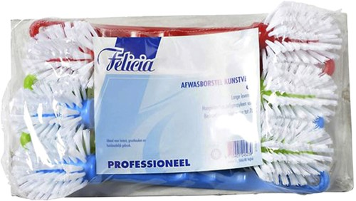 AFWASBORSTEL FELICIA PROFESSIONAL NYLON 6 STUKS 6 STUK