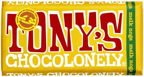 TONY'S CHOCOLONELY MELK NOGA 180GR 180 GRAM
