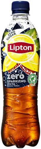 FRISDRANK LIPTON ICE TEA SPARKLING ZERO FLES 0.5L 0,5 LITER