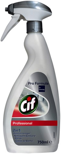 SANITAIRREINIGER CIF PROFESSIONAL SPRAY 750ML 1 FLES
