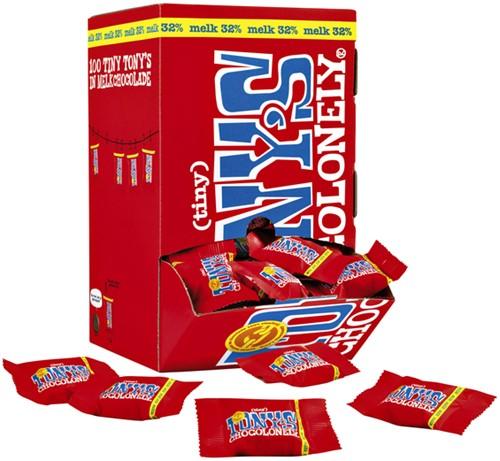 TONY'S CHOCOLONELY TINY MELK 900GR 100 Stuk