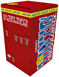 TONY'S CHOCOLONELY TINY MELK 900GR 100 STUK