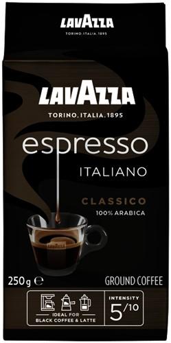 KOFFIE LAVAZZA ESPRESSO BLACK GEMALEN 250 GRAM