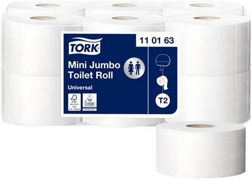 TOILETPAPIER TORK T2 UNIVERSAL MINI 1LAAGS 110163 12 Rol