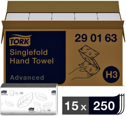 HANDDOEK TORK ADVANCED H3 Z-VOUW 23X25CM 3750ST 290163 15 STUK
