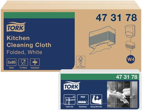 POETSDOEK TORK W4 NONWOVEN KITCHEN 5X80VEL 473178 5 PAK